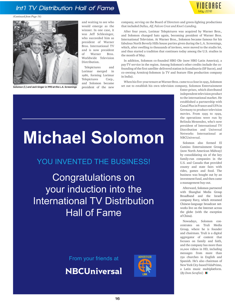 Michael Jay Solomon - VideoAge International